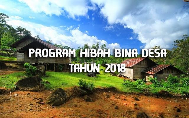 LOMBA: Program Hibah Bina Desa (PHBD) Tahun 2018