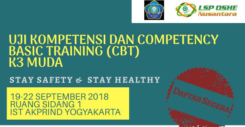 PENGUMUMAN: Pendaftaran Uji Kompetensi dan Competency Basic Training K3 Muda