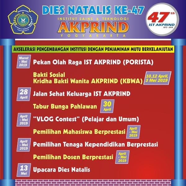 Agenda Dies Natalis IST AKPRIND Yogyakarta ke-47