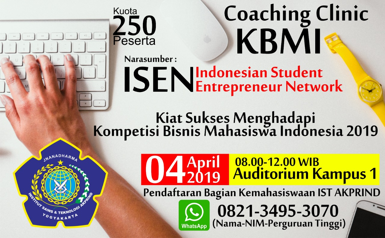 PENGUMUMAN: Coaching Clinic KBMI 2019