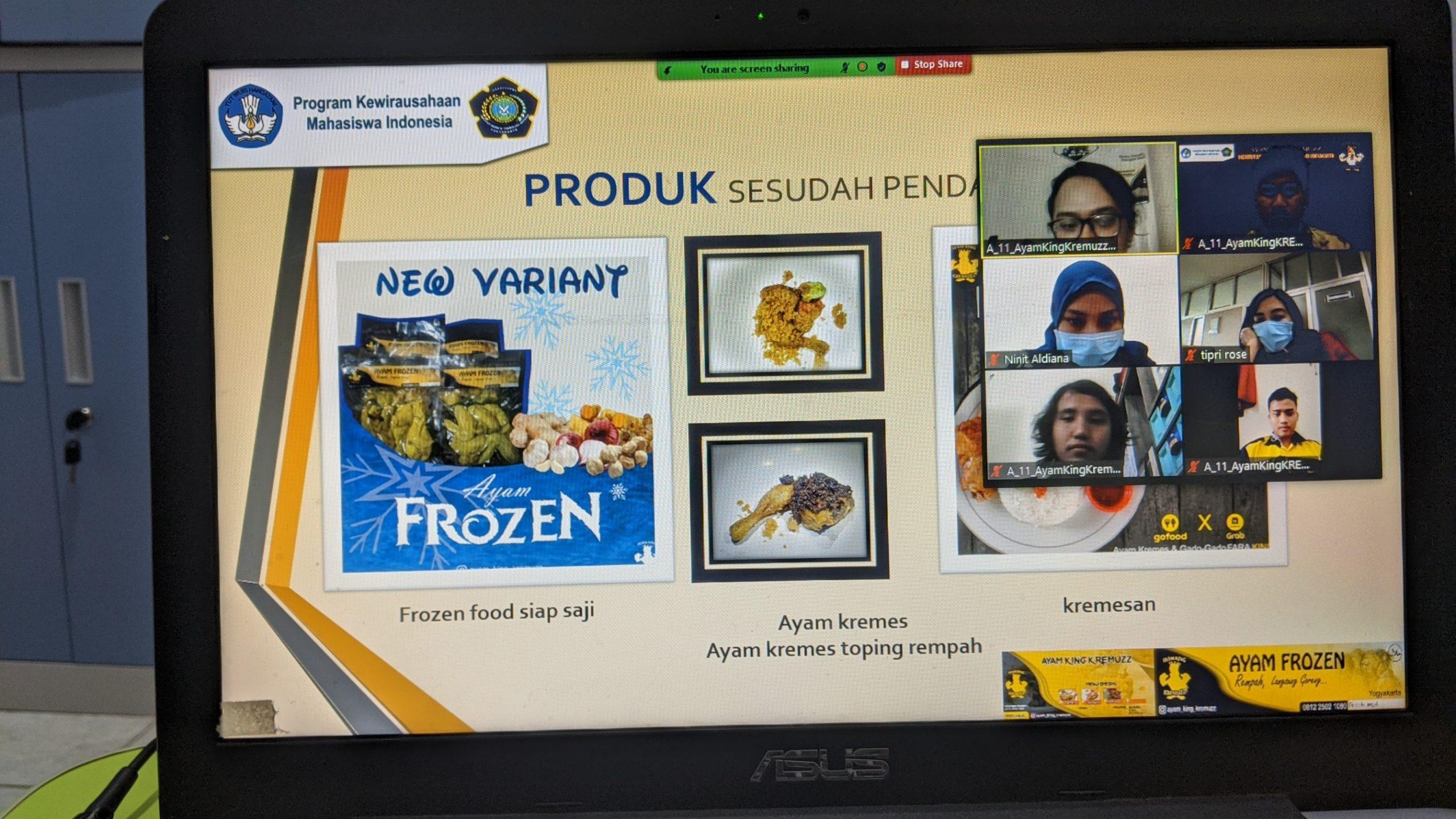 "Produk KBMI ""Ayam King KREMUZZ"" dan Dorothy Catering dari Teknik Kimia Siap Menuju KMI Expo 2020"